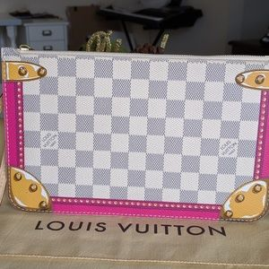 Louis Vuitton Bags - LV Neverfull Pouch Damier Azur Summer Trunks LE